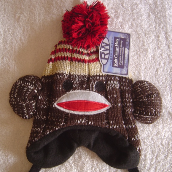 Rugged Wear Other - 5/$25  Fleece Lined Sock Monkey Warm Winter Hat